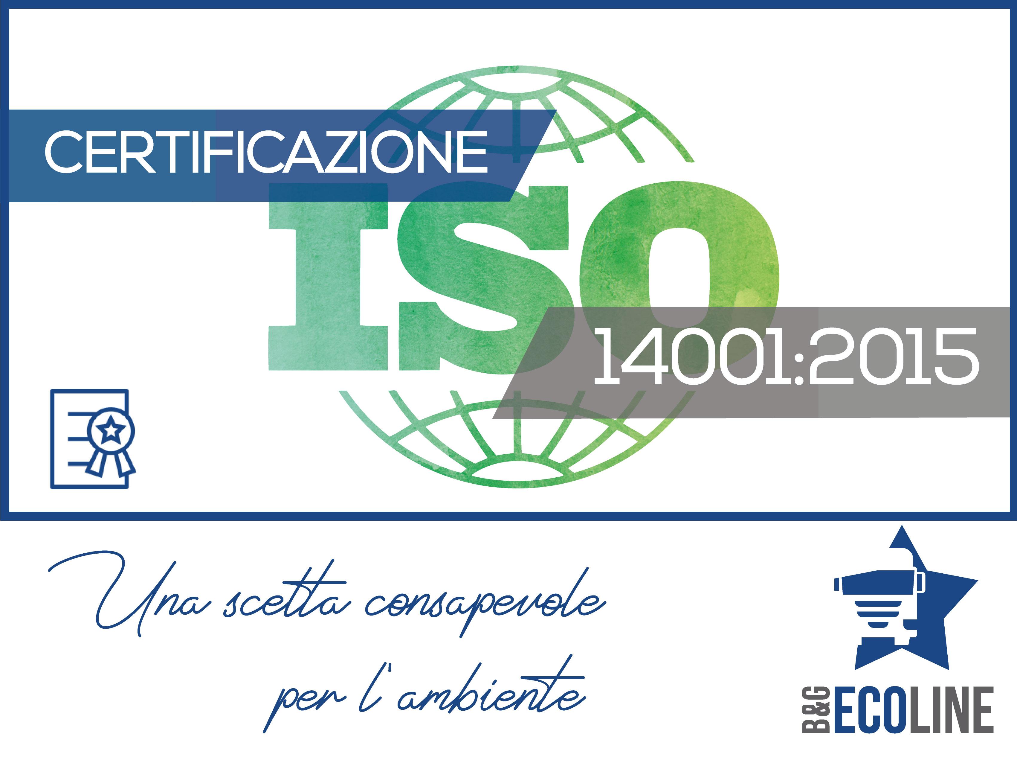 La B&G Ecoline ottiene la certificazione ISO 14001:2015